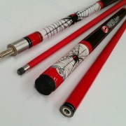 Formula 2 Piece Composite Illusion Cue - Red Back 57""